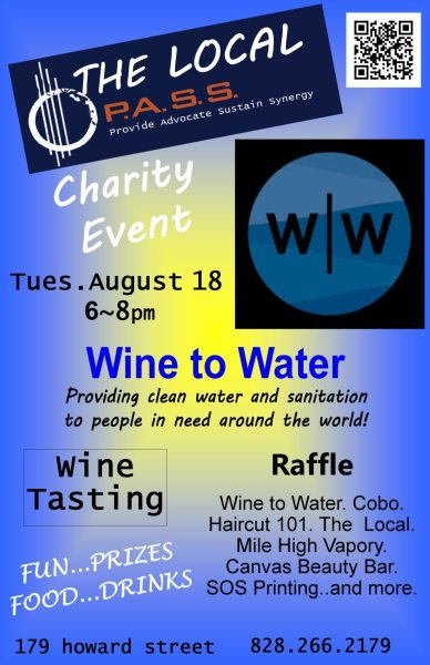 Wine to water poster Aug 18 2015