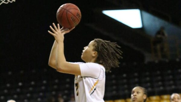 KeKe Cooper collected her fifth double-double of the season with 13 points and 11 boards in the loss to South Alabama. Photo by Rob Moore / App State Athletics