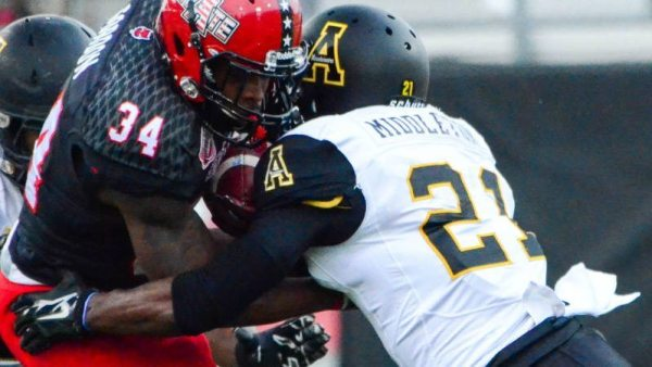 Senior safety Doug Middleton received first-team preseason all-Sun Belt recognition from Sporting News and Phil Steele. Photo courtesy Allyson Lamb / App State Sports