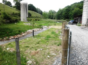 A stream after a summer project by Watauga River Partners, landowners and other partners. Look at image below to see what stream looked like before.
