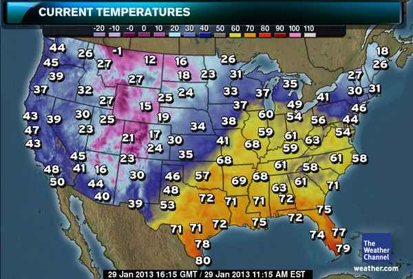 Us Temp Map Today It's Going to Get How Warm Today? Temperature Already Above 60