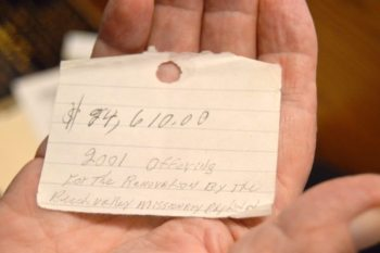 On a tiny piece of paper, which he still keeps in his wallet 15 years later, Warren is reminded of a great miracle.