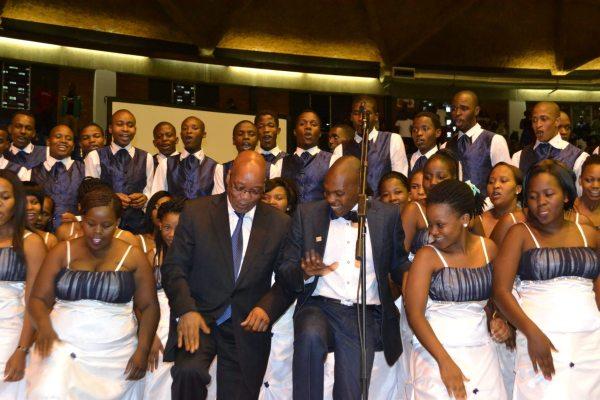 choir with the President