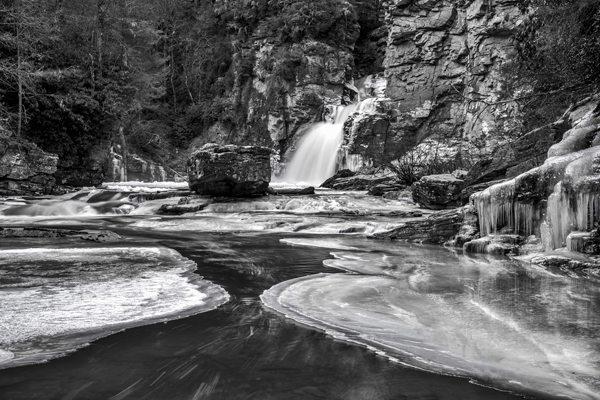 """""""Frozen Linville Falls"""" by Chris Almerini"""