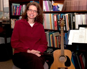 Appalachian State University's Christine Leist, an assistant professor of music therapy, is studying ways music can benefit women with heart disease. Photo by Jane Nicholson
