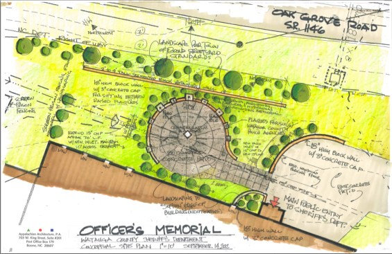 """The initial conceptual plan that was provided in the commissioners packet. The end design will be """"pretty"""" similar, Sheriff Len Hagaman said."""