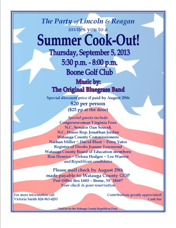 cook out flyer