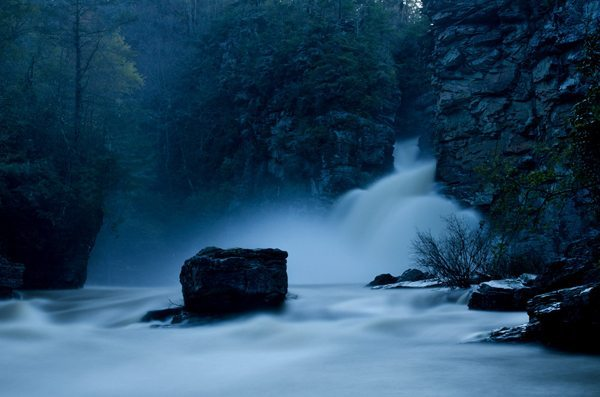"""""""Linville River Flooding from Plunge Basin - MP 316"""" by Lynn Wil"""