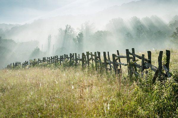"""""""Blue Ridge Parkway Post & Stake Fencing"""" by Mark VanDyke"""