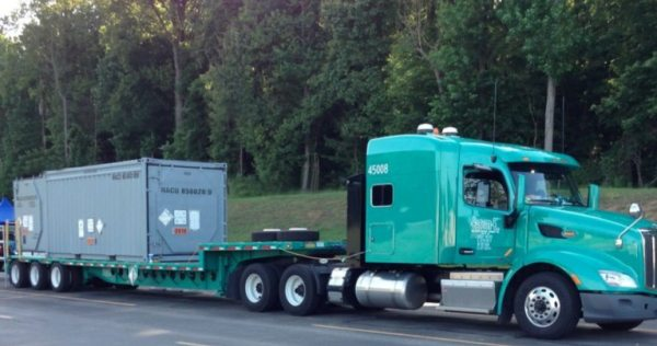 A truck like this one could be used to haul liquid nuclear waste through Western North Carolina. Department of Energy