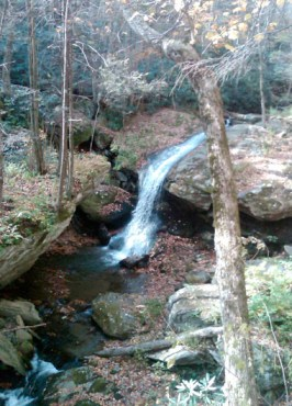 Here's the waterfall of Otter Falls Park. Photo courtesy of the Town of Seven Devils.