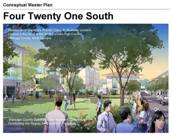 Cover of Four Twenty One South conceptual master plan.