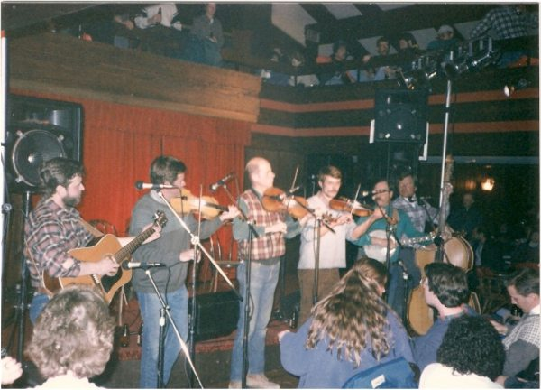 The Corklickers open for Doc Watson in the early 1980s at the Beech Tree Restaurant.