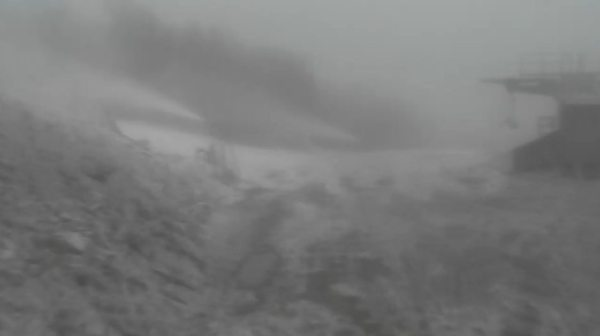 Screen shot of summit cam at Sugar Mountain Resort at about noon on Friday.