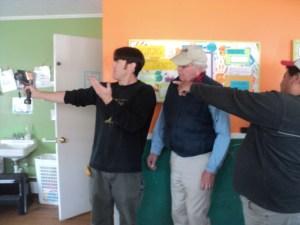 BPE trainer, Scott Suddreth, demonstrates an Infrared (IR) camera to trainees from Wellborn Insulation. Photo by Laura Johnston