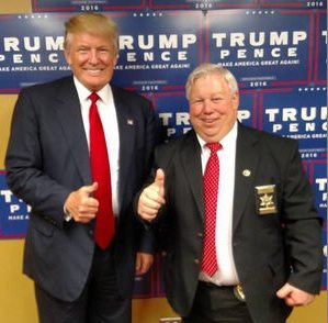 Avery County Sheriff Kevin Frye stands with GOP Presidential candidate Donald Trump. Photo submitted