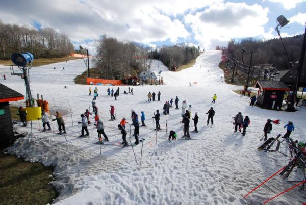 Appalachian Ski Mtn. slopes looked like this on Thursday - after two weeks of warm weather. Photo by Ken Ketchie