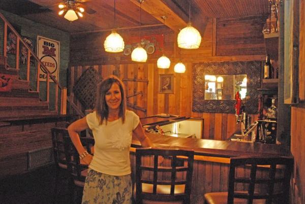 Store owner Abigail Sheets is pictured in the new tavern at Old Hampton Store.
