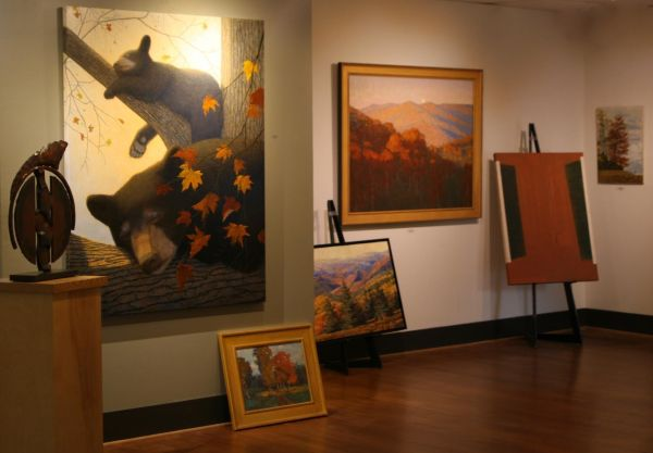 A small glimpse of the Autumn Exhibition, showing artists Bill Brown, Nancy Oppenheimer, Richard Oversmith, Trey Finney, Tim Turner and Robert Ray.