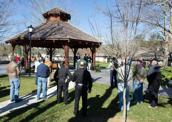 Veterans Day Cermony in Blowing Rock NC
