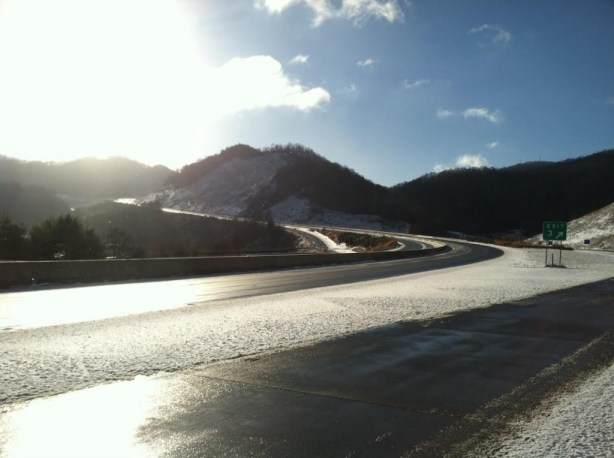 A photo of Interstate 26 at exit 3 in Madison County. Photo courtesy NCDOT