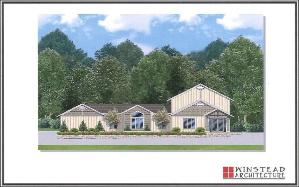 An conceptual drawing of the proposed urgent care facility.