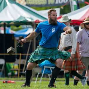 John 'The Mountain' Van Beuren Rises Above the Competition at Highland Games