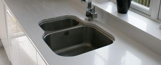 White Sparkle 40mm Kitchen Worktop