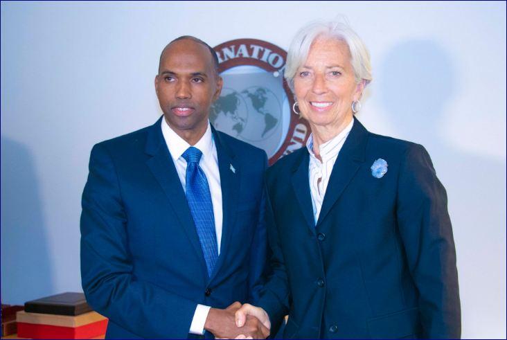 Raysal Wasaare Khayre Oo La Kulmay Madaxa IMF-ta Iyo La' Taliyaha Trump Ee Amaanka
