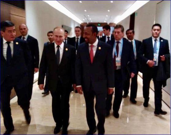 Raysal Wasaaraha Ethiopia Oo La Kulmay Madaxweyne Putin