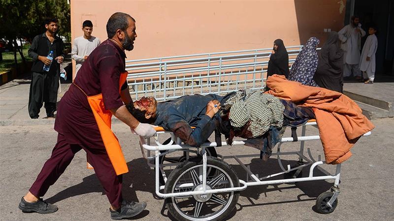 Kandahaar: 34 Qof Oo Ku Dhintay Miino Ku Qaraxday Bas Siday Dad Rakaab Ah