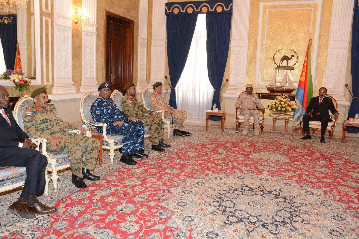 Madaxweynaha Eritrea Oo La Kulmay Ku Xigeenka Hogaamiyaha Milatariga Sudan