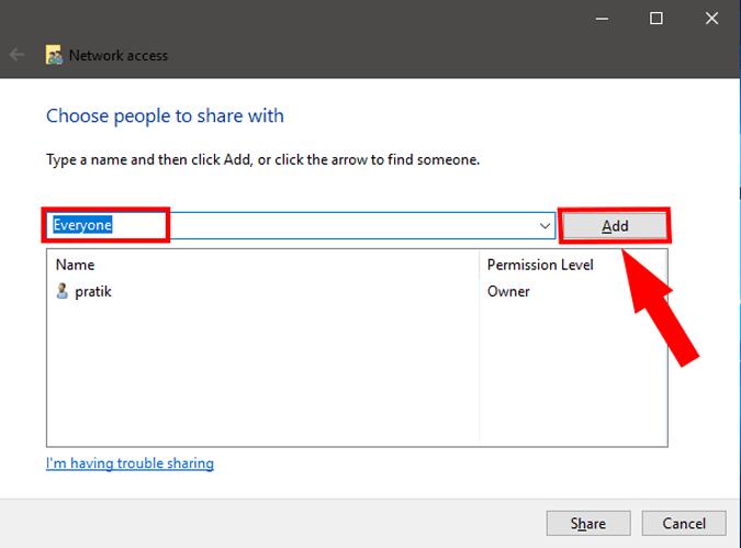 مشاركة ونقل الملفات بين جهازين كمبيوتر او لابتوب بكابل