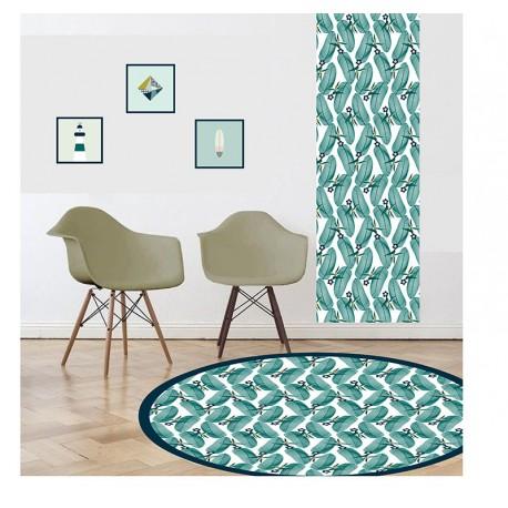 tapis vinyle rond andalouz palmop
