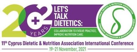 1η ΑΝΑΚΟΙΝΩΣΗ – 11ου Συνεδρίου Συνδέσμου Διαιτολόγων και Διατροφολόγων Κύπρου, 19-21/11/2021