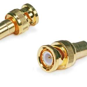 Female RCA to BNC Male Connector - Gold Plated