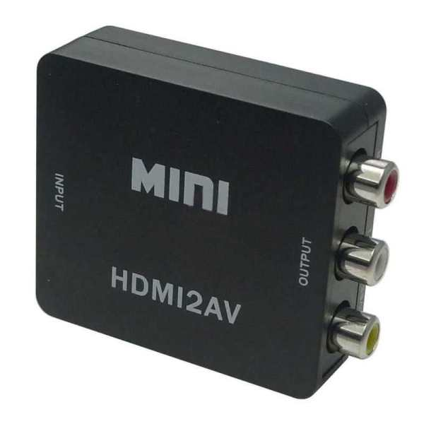 HDMI to AV / RCA (Composite / CVBS) video converter with Downscaler