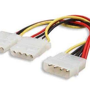 Molex Splitter cable - 1 x Male Molex to 2 x Female Molex