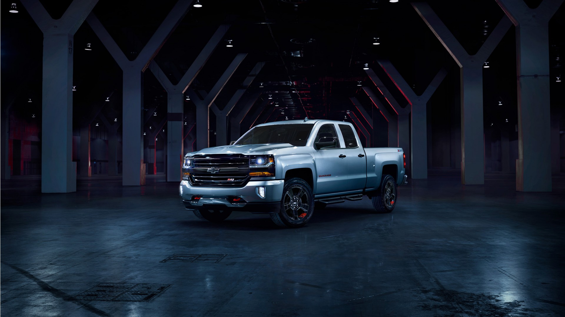 2017 Chevrolet Silverado Redline Edition Wallpaper Hd