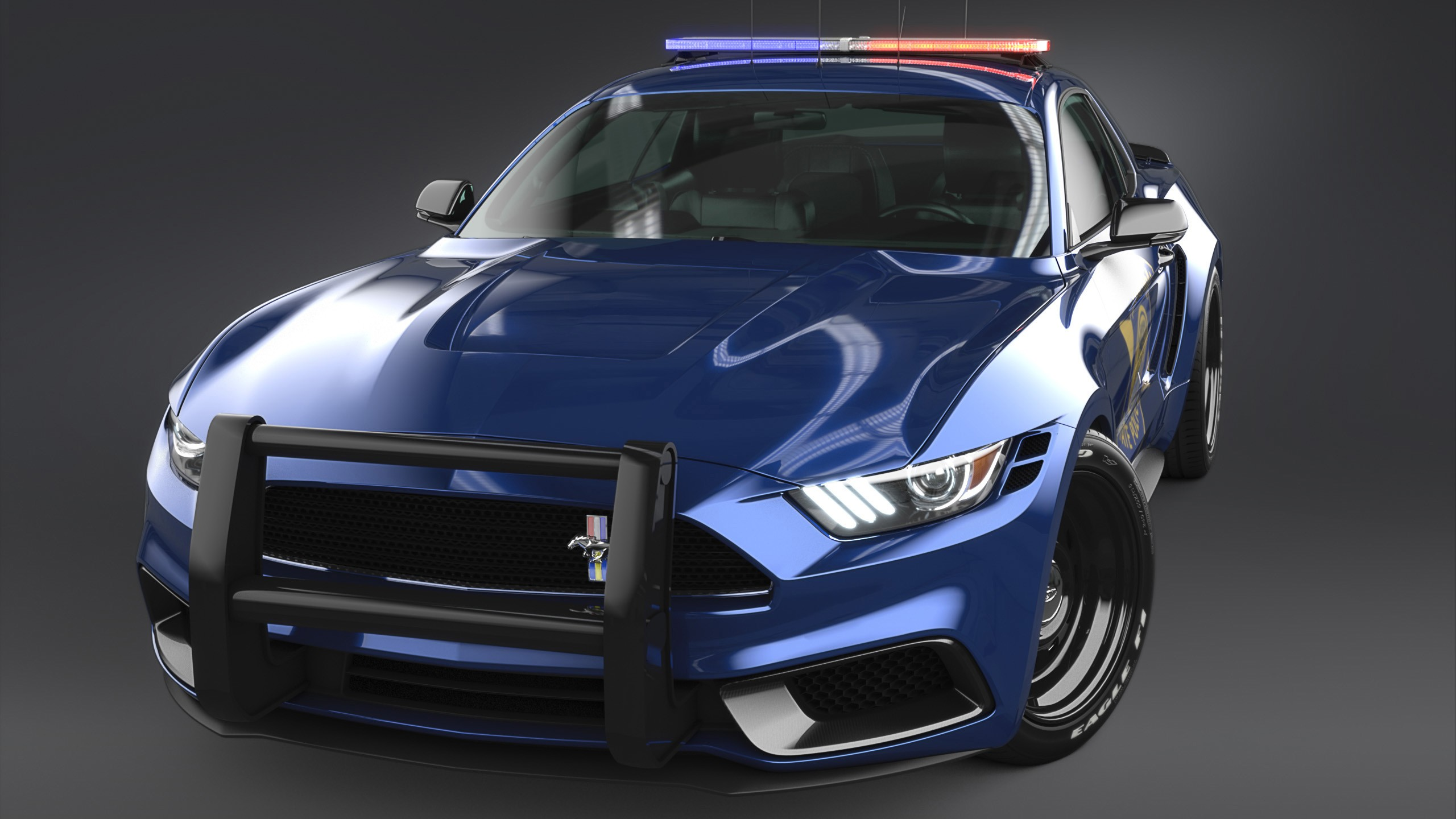 2017 Ford Mustang NotchBack Design Police 3 Wallpaper HD