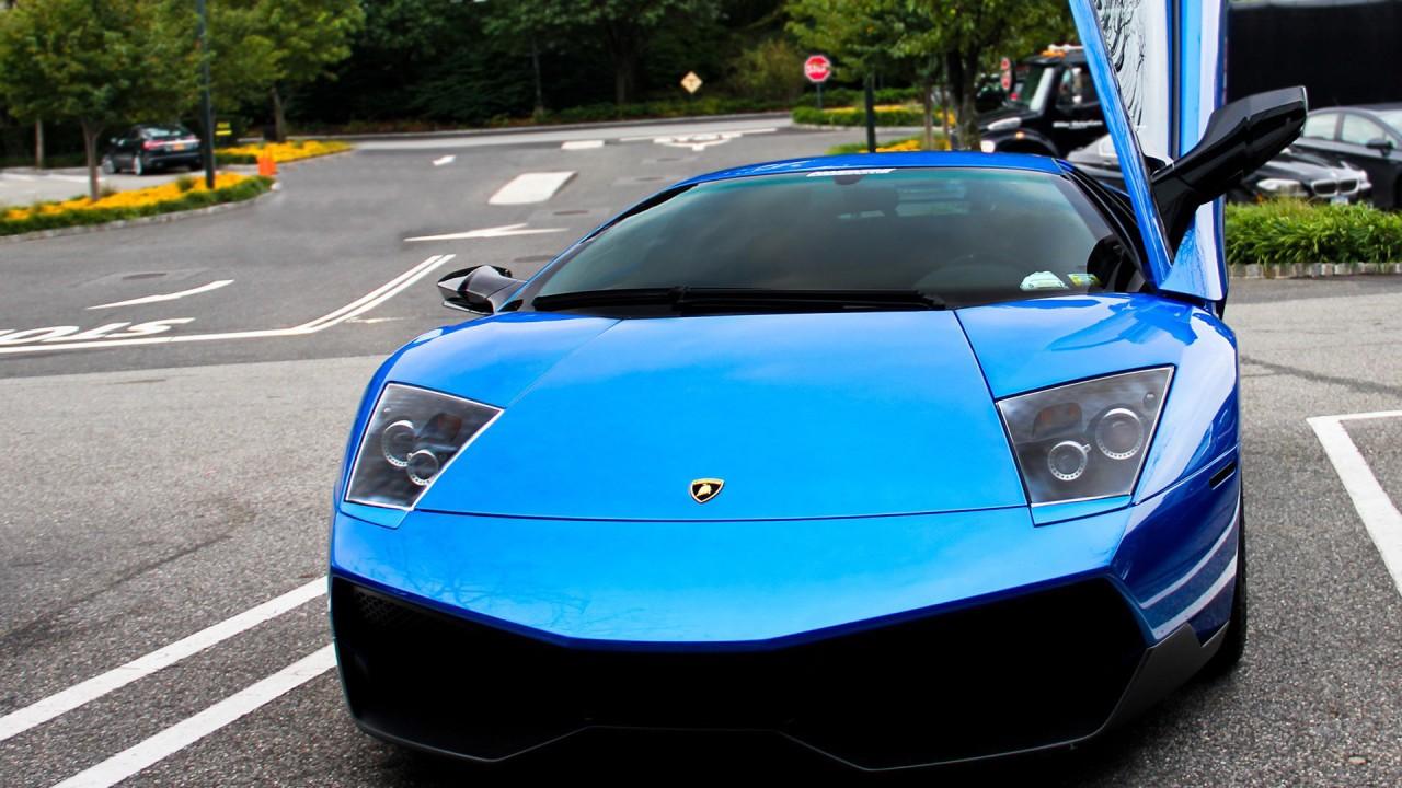 Blue Lamborghini Car Wallpaper HD Car Wallpapers ID 2789