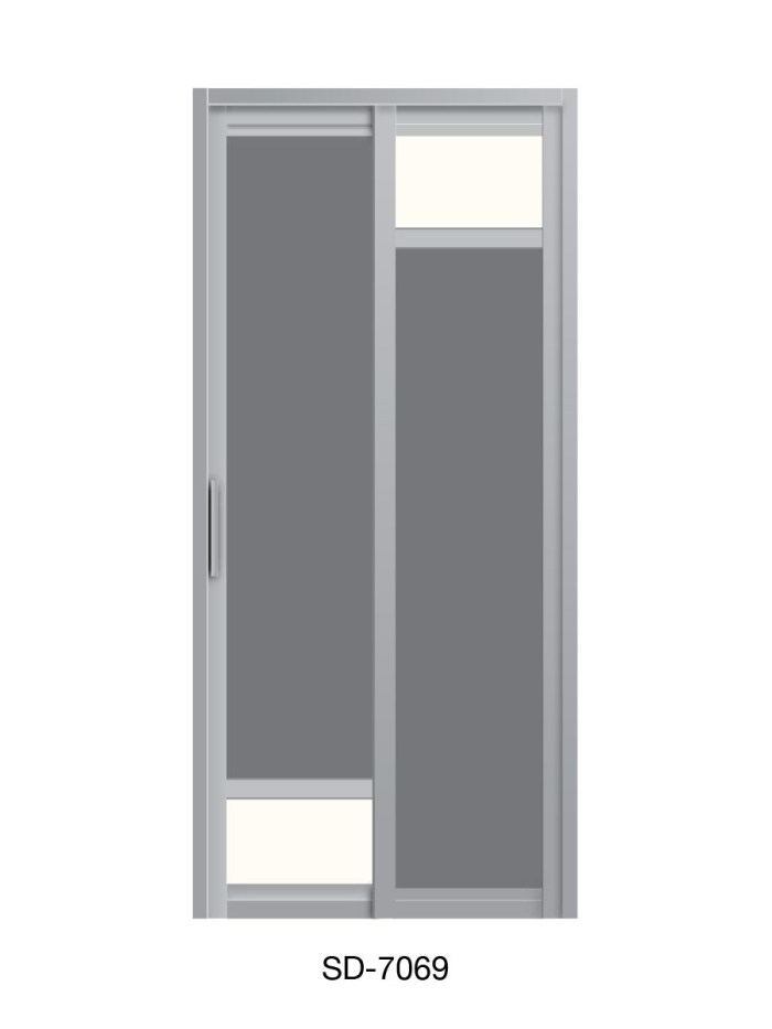 PVC Slide & Swing Toilet Door SD-7069