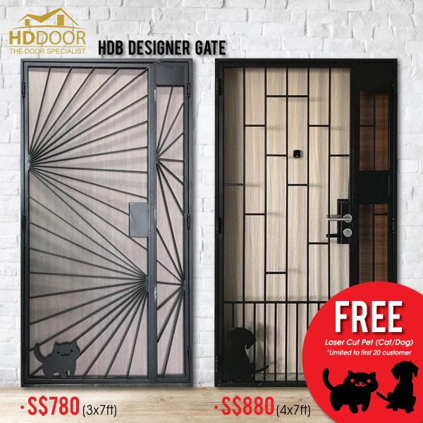 Free Laser Cut Pet /dog / cat for new gate