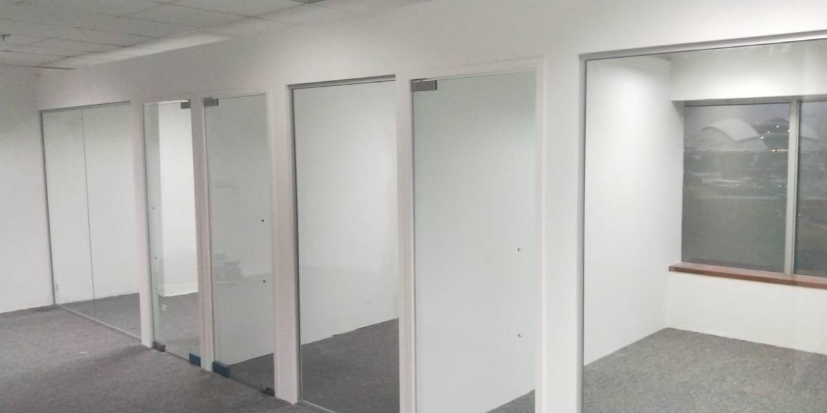 Clear Tempered Glass Swing Door with Floor Spring