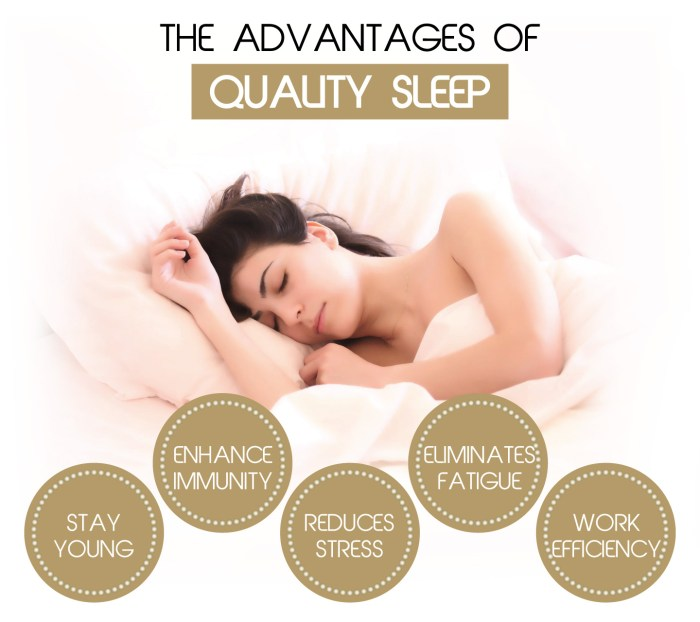 Advantage of quality sleep