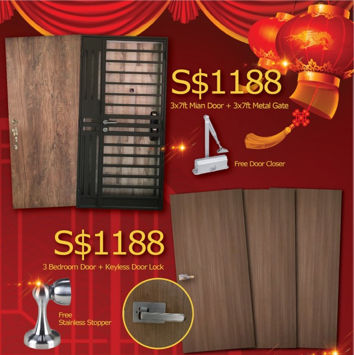 CNY Door Gate Bundle Sale 2020
