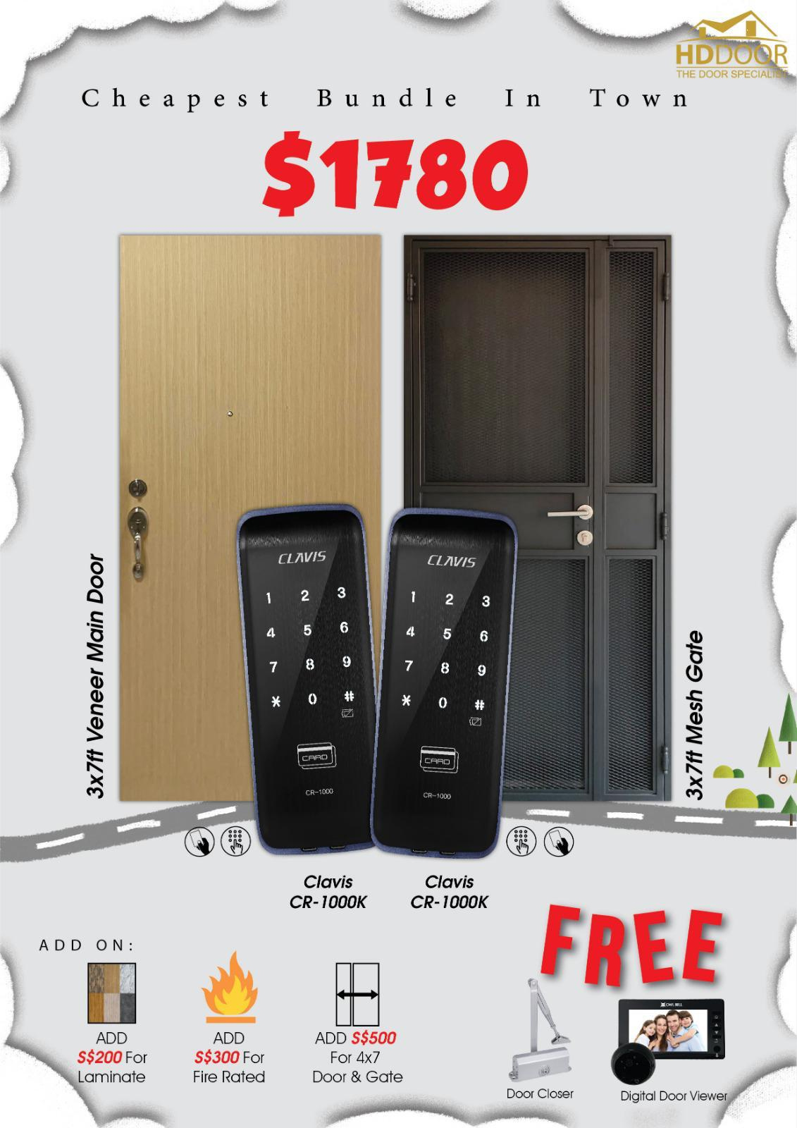 Cheap Clavis Digital Lock Door and Gate Bundle Package 2020