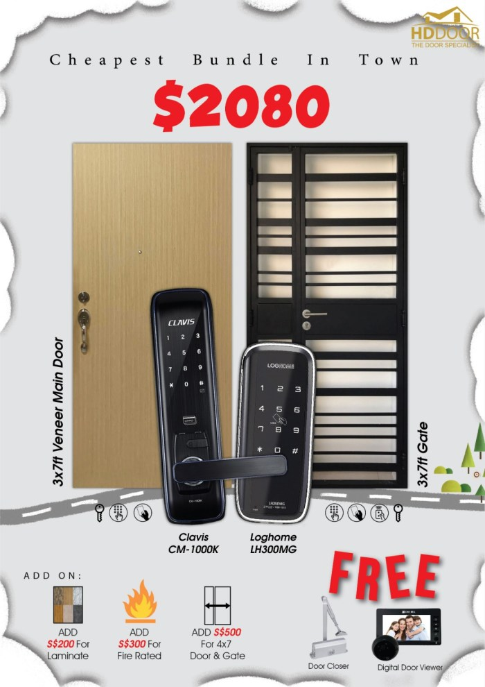 cheapest digital lock bundle sale Singapore 2020