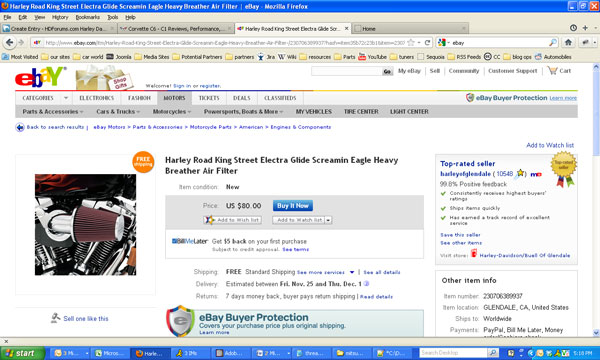 Buying Harley Davidson Parts on eBay: A User's Guide