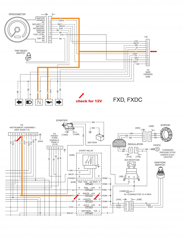 harley davidson fxdwg wiring diagram harley softail wiring